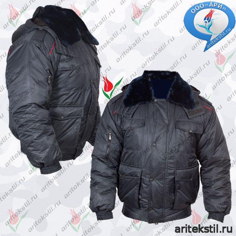 Форменная Куртка Зимняя МВД Полиции России Мужская Утепленная укороченная