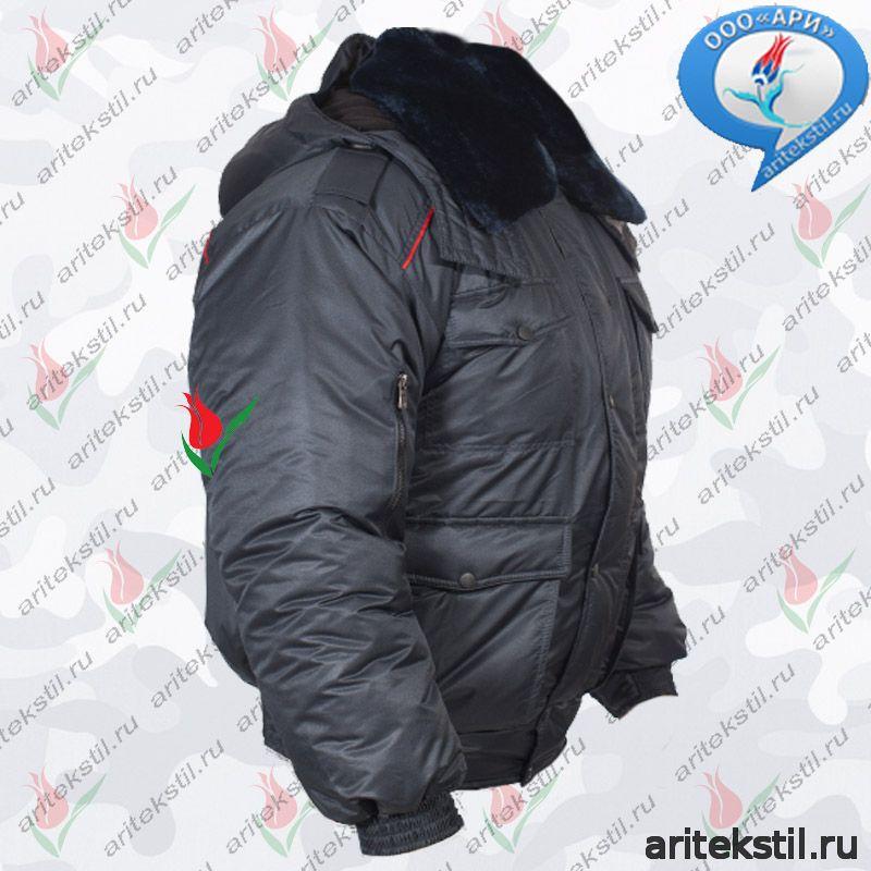 Форменная Куртка Зимняя МВД Полиции России Мужская Утепленная укороченная всесезонная